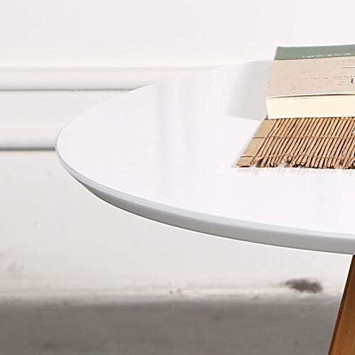 ZR- Table Basse Ronde de Table de Salon de Sofa de Table d\'appoint Blanche 80 * 44CM Meubles
