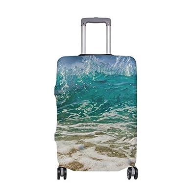 33d67015ad1b durable service DEYYA Sea Beach Ocean View Spandex Travel Luggage ...
