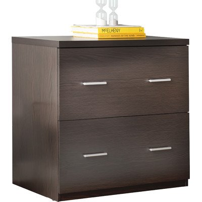 "2 Drawer Lateral File Cabinet Made w/ Laminated MDF and Particle Board in Espresso 29.25"" H x 29.84"" W x 17.99"" D in."