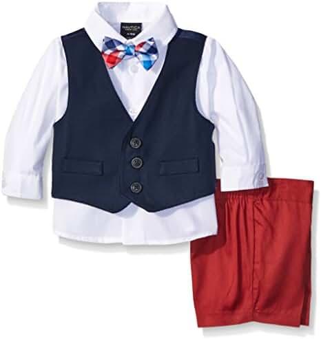 Nautica Baby Boys' Vest, Shirt and Short Set