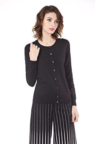 Knitbest Women's Cotton Knitted Sweater Cardigan (Medium, Black) - Cashmere Cotton Shorts