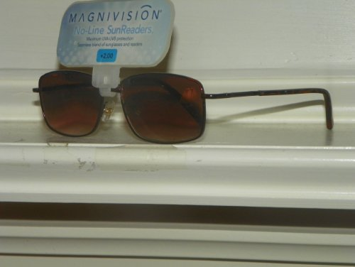 Magnivision No-line Sunreaders +2.50 Metal Frame Reading ()