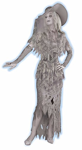 [Forum Novelties Ladys Ghostly Gal Adult Halloween Ghost Costume Gray X-Large] (Princess Peach Costumes Women)