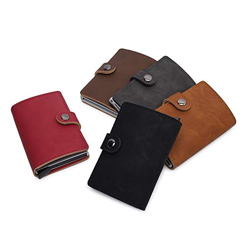 Leather Wallet Minimalist & Slim from GK Galleria with RFID for Men & Women