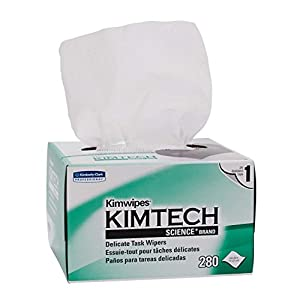 "Kimberly-Clark Kimtech Science Kimwipes Delicate Task Disposable Wiper, 8-25/64"" Length x 4-25/64"" Width, White (Pack of 3) - November Sale"