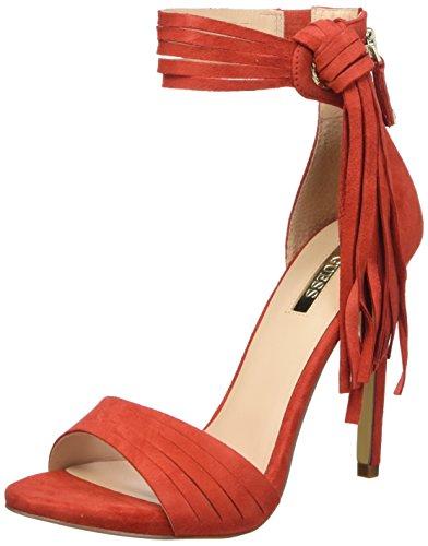 y con Tacon Vertical para Guess Sue03 Rosso Rojo Tira Zapatos Mujer w4ExTTIHq