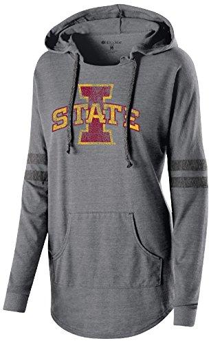 NCAA Iowa State Cyclones Women's Hooded Low Key Pullover Top, Medium, Vintage Grey/Vintage (Iowa Womens Hoody Zip Sweatshirt)