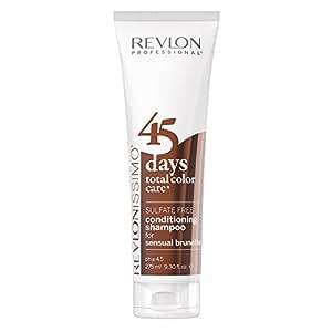 Revlon Professional Revlonissimo 45 Days 2 en 1 Champú + Acondicionador para Cabellos Castaños - 275 ml