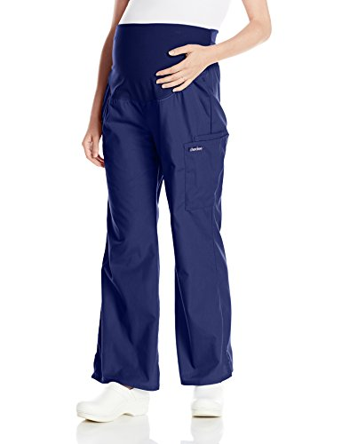 Cherokee Women's Maternity Knit Waist Pull-On Pant Plus-Size, Navy Blue, ()