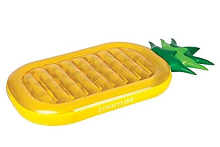 Fstop Labs Pool Float Inflatable Pineapple Swimming Party Pool Ocean Lounge Raft CloverTale