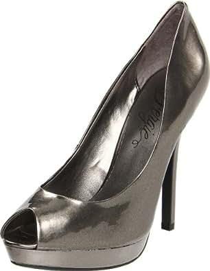 Fergie Women's Holly Peep-Toe Pump,Silver,8 M US