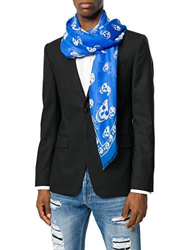 Modal Bleu Alexander Écharpe 1106404943q4382 Homme Mcqueen AxwnWwZv