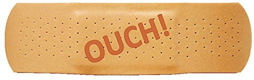 Extra Large Bumper Sticker for Cars, Trucks - Ouch: Band Aid - Professional Vinyl Decal | Made in USA - Giant 4.5