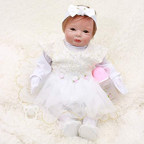 Happy OtardDolls Silicone Rebirth Doll 22 Inch 55 cm Newborn Baby Child Kid Simulation Toy Gift Set Age -