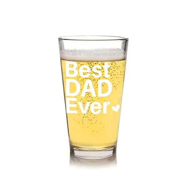 Best Dad Ever Beer Glass Mug Christmas Father\'s Day Gift Ideas for ...