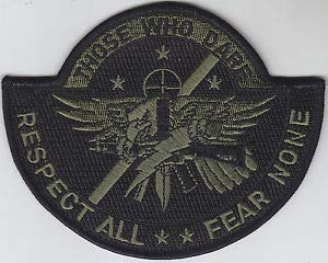 SWAT Operator Police Patch Those WHO Dare/Respect All/Fear None/OD Green/Black by HighQ Store