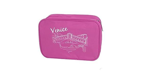 Amazon.com: Viajes de tocador Artículos de tocador de maquillaje Colgando plegable bolso de la Colada Fucsia: Health & Personal Care