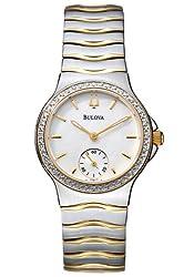 Bulova Women's Diamond Two Tone Watch 98W12
