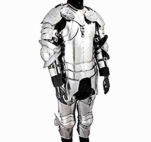 Knight Leg Armor (THORINSTRUMENTS (with device) Gothic Wearable Suit of Armor - LARP Suit of Armor)