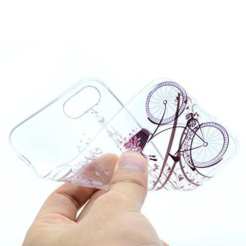 iPhone 8 Hülle , Leiai Modisch Turm TPU Transparent Clear Weich Tasche Schutzhülle Silikon Handyhülle Stoßdämpfende Schale Fall Case Shell für Apple iPhone 8
