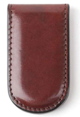 Bosca Men's Genuine Leather Magnetic Money Clip (Amber Brown) ()