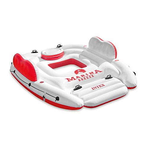 Intex Inflatable Marina Breeze Island Lake Raft with Built-in Cooler | 56296CA for $<!--$58.99-->