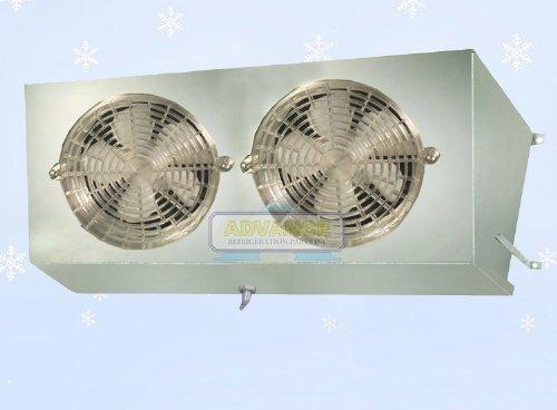 Short V Profile Cooler Evaporator 2 Fans Blower 1,200 BTU / 270 CFM, 110V