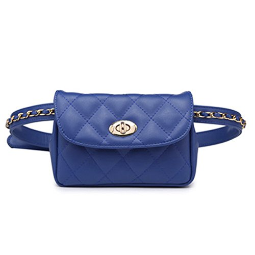 xhorizon FL1 Womens Elegant Leather Fanny Pack Cute Waist Pouch Stylish Travel Cell Phone Bag (Blue)