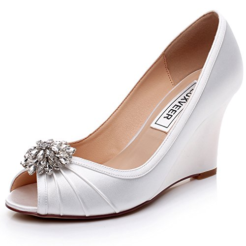 Wedding Shoes Wedges - 8
