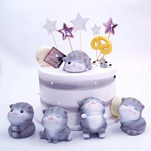 Holibanna Kat Vorm Decoratie Hars Cake Topper Craftes Adornment Tafel Top Decoratie voor Paruty Winkel Thuis Kamer Winkel 5 stks