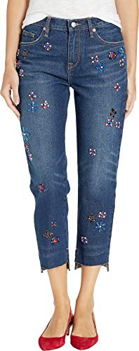 Juicy Couture Women's Floral Embellished Boyfriend Jeans Hayworth Wash 25 25