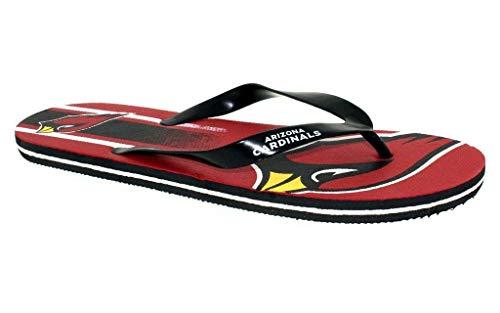 Cardinals Flip Flop - ACOBLG3-3 - Arizona Cardinals- Large - Officially Licensed NFL Big Logo Flip Flops - Happy Feet and Comfy Feet