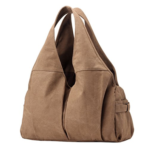 tout marron fourre à Hobo en sac marron bandoulière main sac femme toile Moden Sacs à Supa Pqz11Z