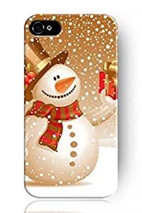NEW Classic Charming celebrated Design Personalized Hard Plastic Snap on Slim Fit Golden Snowman Hellqvist 5 5s Cover Christmas iPhone Case royals a &hong hong customize