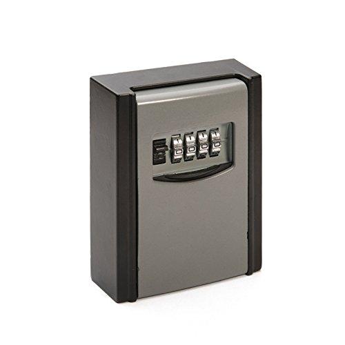 Baytter Schlüsseltresor Schlüsselschrank Wandschlüsselsafe Schlüsselsafe Tresor mit Zahlenschloss für Wandmontage 4-Stellig 9cm x 6cm x 3cm