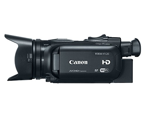 Canon VIXIA HF G30 2.91 Megapixel HD CMOS Pro Image Sensor and 20x HD Video Lens HD Camcorder (Renewed) (Canon Sm V1 5-1 Channel Surround Microphone)