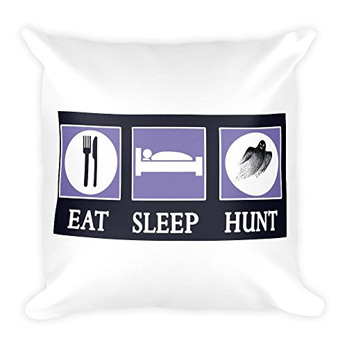Eat Sleep Ghost Hunt Pillow by giftsforall