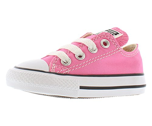 (Converse Kids' Chuck Taylor All Star Canvas Low Top Sneaker Pink 4 M US)