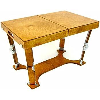 Spiderlegs Folding Coffee Table, 28 Inch, Warm Oak