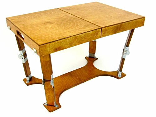 Spiderlegs Folding Coffee Table, 28-Inch, Warm Oak