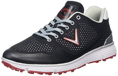 Callaway Men's Chev Vent Golf Shoes, Black/White, 11 UK