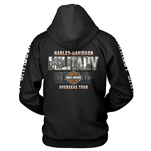 Harley-Davidson Military Men's Pullover Hooded Sweatshirt - Military Collage | Epic -