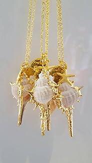 Charm necklace, Seashell necklace, Pendant necklace, Sea Shell necklace, Layering necklace, Long necklace, Bri