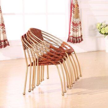 HOOM-Sillas de mimbre tejida balcón exterior sillón,B: Amazon.es: Hogar