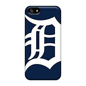 Shock Absorption Cell-phone Hard Cover For Apple Iphone 5/5s (SFE38501XSrx) Provide Private Custom Beautiful Detroit Tigers Image