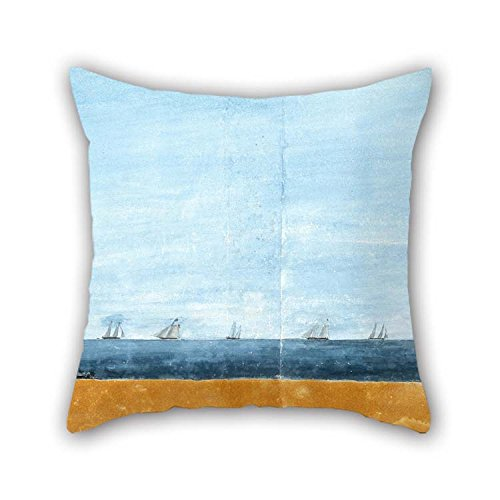 Oil Painting Henry Gray - The Morning After The Attack On Sullivan's Island, June 29, 1776 Pillowcover 16 X 16 Inches / 40 by 40 cm Gift Or Decor for Outdoor Son Monther Kids Room Bar Seat Adults ()