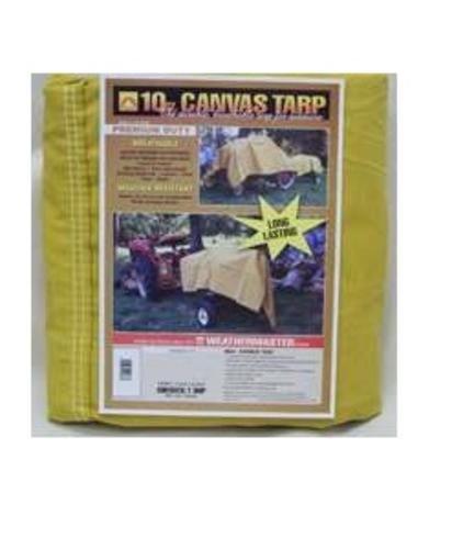 Dize Heavy-Duty 10-Oz. Treated Cotton Duck Canvas Tarp - 8ft. x 10ft., Model# CA0810 Cotton Duck Canvas Tarp
