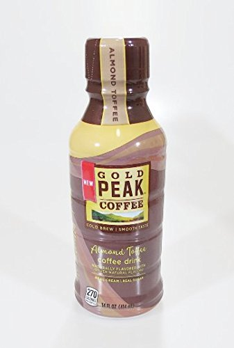 Gold Peak Ready to Drink Bottled Coffee 4 Pack (Almond Toffee)