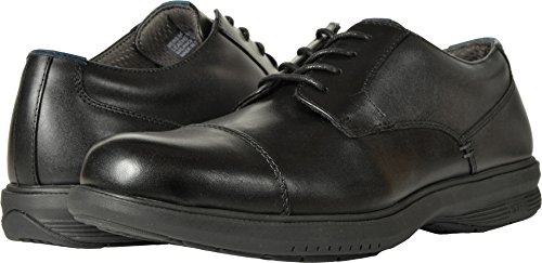 Nunn Bush Men's Melvin Street Cap Toe Oxford with KORE Slip Resistant Walking Comfort Technology Black 11 EEEE US