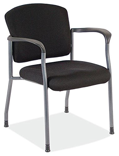 - OfficeSource Regal Side Chair with Arms, Stackable, Black Upholstered Seat & Back, Titanium Gray Frame, Premium Quality & Highly Durable (2904TGBLK)